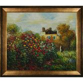 Found it at Wayfair - Monet The Artist's Garden Hand Painted Oil on Canvas Wall Art