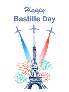 Heart flag happy bastille day card bastille day cards by time to celebrate happy bastille day card its time for a celebration every holiday offers a great chance to kick back relax and enjoy a special m4hsunfo