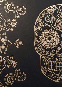 Imagen de wallpaper, skull, and background