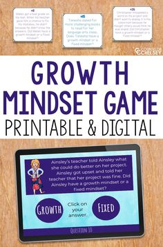 Looking for fun ways to help your students understand the difference between a growth mindset and a fixed mindset? These activities are the perfect way to keep your students engaged as they understand what a growth mindset is and what it isn't. Students will love the interactive format as they learn about this important executive functioning skill! #Growthmindset #ExecutiveFunctioning