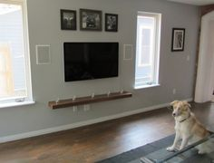 Interior. TV Wall Mount With Shelves For Your Living Room | studio ...
