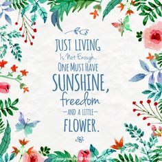 floral da aguarela com uma citação inspiradora