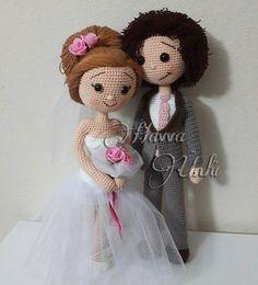 PATRÓN novia y el novio ganchillo amigurumi por HavvaDesigns