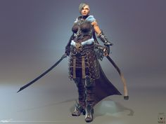 Title: Female-Warrior Agota  Name: Tudor Fat   Country: Romania  Software: 3ds max ZBrush uvLayout substance painter  Submitted: 5th July 2016  personal project