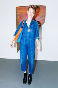 "25 Crazy-Cool (& Super-Wacky) Looks From Frieze Art Fair #refinery29  http://www.refinery29.com/2015/05/87622/frieze-art-fair-nyc-street-style-pictures#slide-18  Name: Sophie McKinnon Job: StudentWhat She's Wearing: A Yarnz bag. What Inspires Her Creativity:""You're always two steps behind. That's a really good thing. You gotta jog to catch up to New York."""