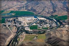 Horseshoe Bend Payette River - Idaho, USA (aerial view, 2007)
