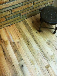 working on the unfinished red oak rustic grade floors