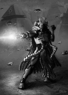 Wh40K: Necron Overlord by StugMeister.deviantart.com on @deviantART
