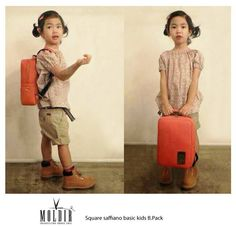 140320 Moldir Korea Update: Kang Hye-Jung & Tablo's daughter Haru endorsing Moldir kids' backpack