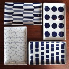 natural69の和モダン器「Swatch」の長角皿がイイ! Blue Pottery, Ceramic Pottery, Pottery Art, Pottery Ideas, Ceramic Plates, Porcelain Ceramics, Pottery Workshop, Ceramic Design, Japanese Design