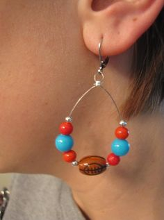 Custom Football Spirit Earrings by cheermomlena on Etsy, $10.00