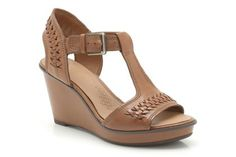 ed26f5b9bdb5fc Womens Casual Sandals - Propose Ring in Dark Tan Leather from Clarks shoes