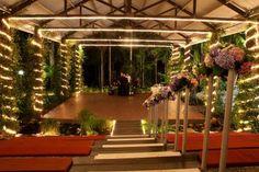Wedding Fairy Lights Outdoor Reception Venue