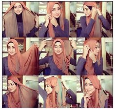 How to Wear Two Toned Hijabs -Step by Step Guide