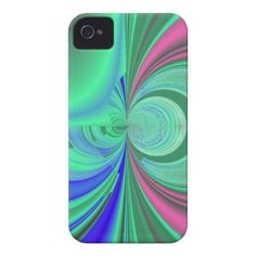 Neon Swirls Abstract iPhone 4 Cases $42.95