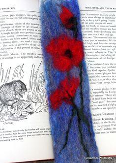 Wildflower wet felted bookmarks