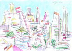 City in summer