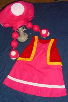 By Super Mario Bros. characters TOADETTE compleate costume Custom on Any Girls Size Homemade Costumes, Diy Costumes, Costume Ideas, Zombie Costumes, Homemade Halloween, Group Costumes, Mario Brothers Costumes, Mario Kart Costumes, Costumes