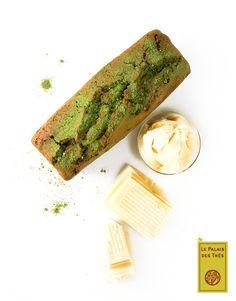 Cake au thé vert Macha, soupe au chocolat blanc