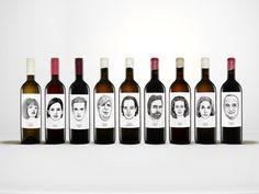 love this Austrian winery's labels.  each varietal has been assigned a character in the family.