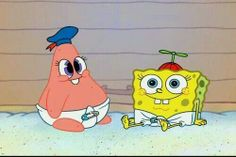Spongebob and Patrick as a baby!