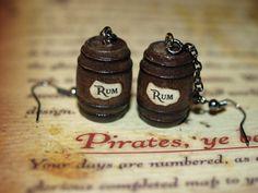Pirate Jewelry Earrings Rum Barrels Disney Pirates of the Caribbean Blackbeards Ghost
