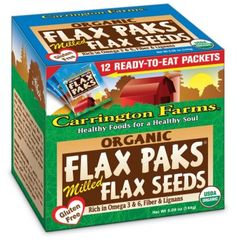 Milled Flax Paks from Carrington Farms are ready-to-eat on the go. Buy flax seed food, including Flax Paks and more, from Carrington Farms today. Flax Seed Benefits, Coconut Oil, Healthy Recipes, Eat, Farms, Food, Count Count, Dairy Free, Essen