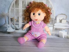Knitted Doll  plush toy Baby Shower Gift Textile Doll Creative