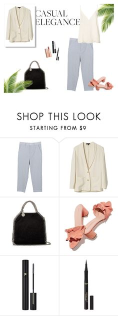 """Casual day"" by frontrowshop ❤ liked on Polyvore featuring Front Row Shop, STELLA McCARTNEY, Loeffler Randall, Charlotte Tilbury, Lancôme, L'Oréal Paris and Anine Bing"