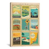 Found it at AllModern - 'Australia' by Anderson Design Group Vintage Advertisement on Canvas