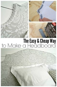 how to make a headboard for cheap diy - stencils by royal design studio