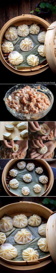How to make a Xiaolong bap #Chinesefood #xiaolongbao #steamBao (China)Chinese soup dumplings