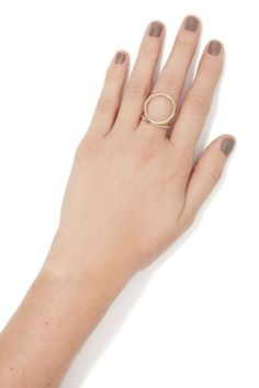 You're going to need this delicate gold ring in your collection.  Go full circle Inde-girl.