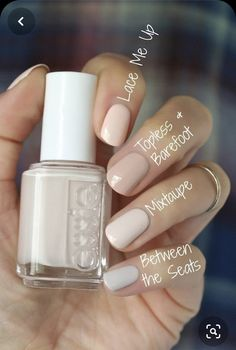Nail polish has made an advanced move of the regular look of the nails and giving it fashionable looks in modern days. Your nails can be decorated with designs Neutral Nails, Nude Nails, My Nails, Ivory Nails, Crazy Nails, Pink Nails, Nails Ideias, Essie Nail Colors, Summer Nail Polish Colors