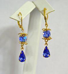 1-10 Pairs Bridesmaid Earrings Vintage Swarovski by WeddingChateau
