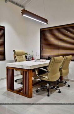 Office furniture decor House & Garden bangers sausage house and beer garden Office Ceiling Design, Office Cabin Design, Small Office Design, Office Furniture Design, Furniture Decor, Office Designs, Luxury Furniture, Corporate Office Design, Medical Office Design