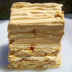 ΜΑΓΕΙΡΙΚΗ ΚΑΙ ΣΥΝΤΑΓΕΣ 2: Τούρτα καραμέλας με μπισκότα!!! Greek Sweets, Vanilla Cake, Tiramisu, Breakfast, Ethnic Recipes, Desserts, Food, Cakes, Business