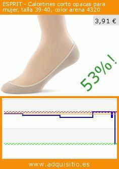 ESPRIT - Calcetines corto opacas para mujer, talla 39-40, color arena 4320 (Ropa). Baja 52.834740651387%! Precio actual 3,91 €, el precio anterior fue de 8,29 €. https://www.adquisitio.es/esprit/calcetines-corto-opacas-5