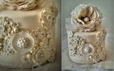bas relief cake design by Blossombelle Cakes