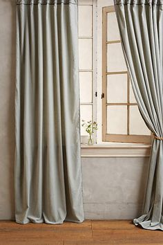 Master Bedroom: Hand-Embroidered Charente Curtain - anthropologie.com