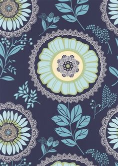 Amy Butler Lacework Midnight Wallpaper