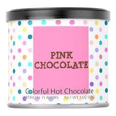 #Pink chocolate polka dots drink mix - #Chocolates #Treats #chocolate
