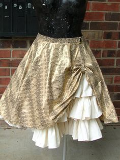 Steampunk Drawstring Bustle Overskirt by crescentwench - Steampunk Steampunk Clothing - Smoked Glass Goggles