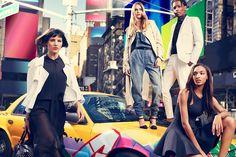 Eliza Cummings, Cara Delevingne, ASAP Rocky y Jourdan Dunn para DKNY Spring/Summer 2014