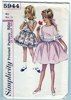 Vintage 1965 Simplicity 5944 Sewing Pattern by SewUniqueClassique, $10.00