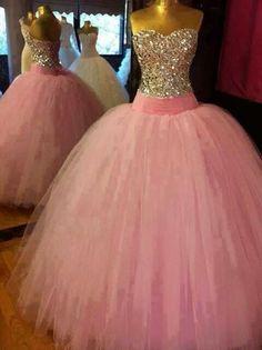 Vestido de quinceañera color rosa