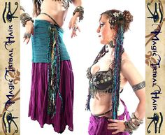 Tribal Fusion MERMAID fantasy TASSELS for belt by MagicTribalHair, €14.50