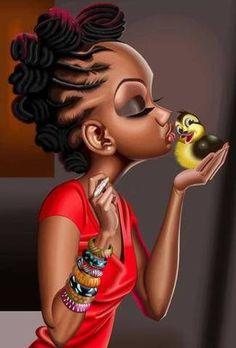 African American Art Cross Stitch Pattern - African Art Cross Stitch - Black Girl Pattern - Hand Embroidery - Pattern Modern - PDF File by alissa Black Love Art, Black Girl Art, My Black Is Beautiful, Art Girl, Black Girl Cartoon, Natural Hair Art, Pelo Natural, Natural Hair Styles, Natural Twists