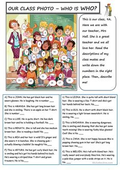 Class Photo - English ESL Worksheets for distance learning and physical classrooms Teaching English Grammar, English Worksheets For Kids, English Lessons For Kids, English Games, English Activities, English Vocabulary, French Lessons, English Lesson Plans, Kids English