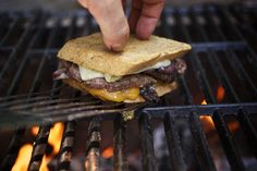 Patty Melt with Caramelized 1015 Onions, Stryk Cheddar & Sauce Especial on Rye.
